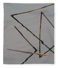 Water Construction Fleece Blanket