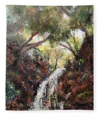 Water In The Valley Fleece Blanket