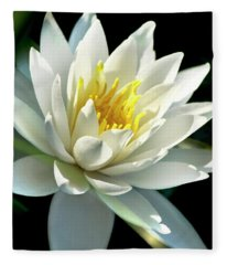 Fleece Blanket featuring the photograph Water Lily by Christina Rollo