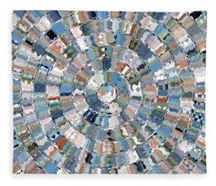 Water Mosaic Fleece Blanket