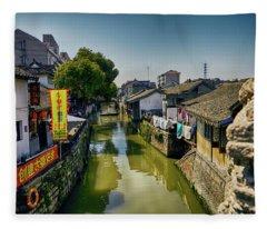 Water Village Fleece Blanket