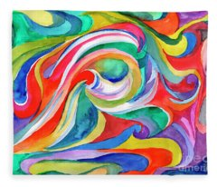Watercolor's Swirl Fleece Blanket