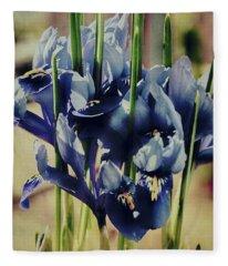 Watercolour Iris Fleece Blanket