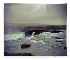 Waterfall Of The Gods Fleece Blanket