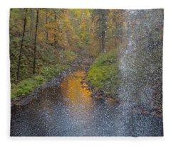 Waterfall Waterdrops Fleece Blanket