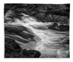 Waterfalls At Ricketts Glenn Fleece Blanket
