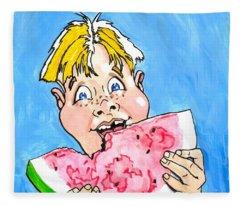 Watermelon Man Fleece Blanket