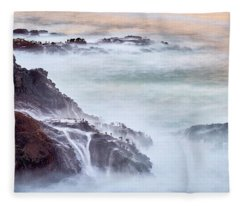 Fleece Blanket featuring the photograph Wave Falls by Whitney Goodey