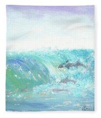 Wave Front Fleece Blanket