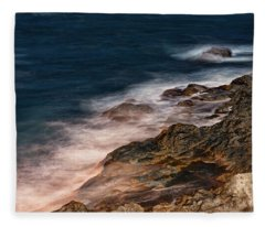 Waves And Rocks At Sozopol Town Fleece Blanket