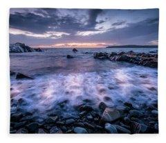 Waves In Motion Fleece Blanket