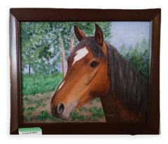 Wayne's Horse Fleece Blanket