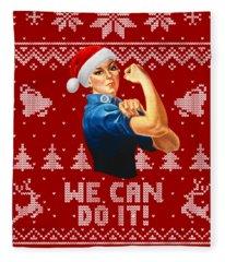 We Can Do It Fleece Blanket