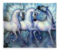 We Three Kings Fleece Blanket