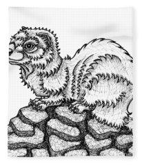 Weasel Fleece Blanket