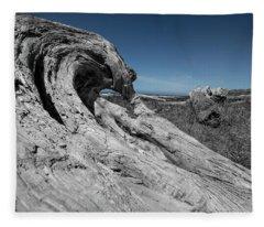 Weathered Wood On The Beach Fleece Blanket