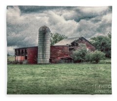 Weathered Worn And Standing Strong Fleece Blanket
