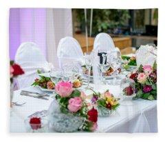 Wedding Table Fleece Blanket