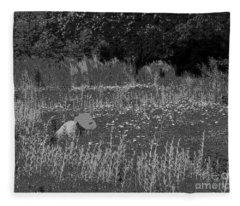 Weeding The Garden Fleece Blanket