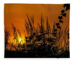 Weeds Fleece Blanket