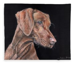 Weimaraner Portrait Fleece Blanket
