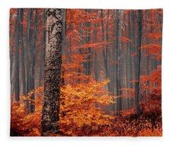Welcome To Orange Forest Fleece Blanket