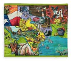 Welcome To Texas Ya'll Fleece Blanket