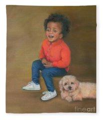 Wendell And Honey Fleece Blanket