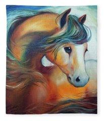 Wendy My Horse Fleece Blanket
