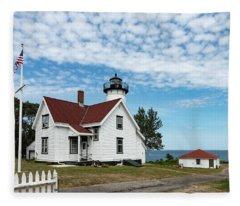 West Chop Lighthouse Marthas Vineyard Fleece Blanket