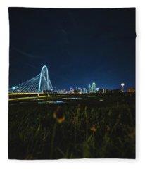 West Dallas Flower Fleece Blanket
