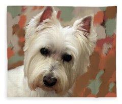 West Highland Terrier Fleece Blanket