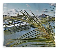 West Ocean City Marina Fleece Blanket