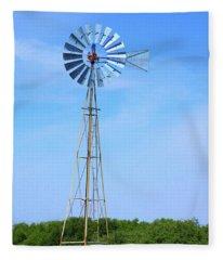 West Texas Windmill A9718 Fleece Blanket