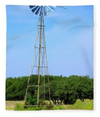 West Texas Windmill A9718 Fleece Blanket