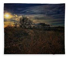 Fleece Blanket featuring the photograph Western Nebraska Winter by Dan Miller