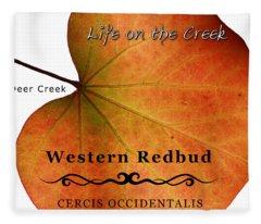 Western Redbud Fleece Blanket