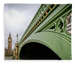 Westminster Bridge Fleece Blanket