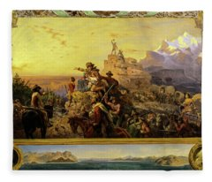 Westward The Course Of Empire Takes Its Way, 1861 Fleece Blanket