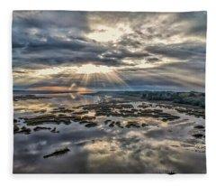 Whale Branch - Angel Rays Fleece Blanket