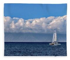 Whale Watching Fleece Blanket