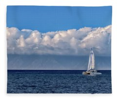 Whale Watching Fleece Blanket
