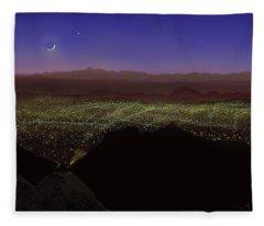 When Tucson's Lights Flicker On Fleece Blanket