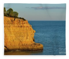 Where Land Ends In Carvoeiro Fleece Blanket