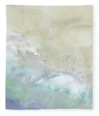 Where Sea Meets Shore Fleece Blanket
