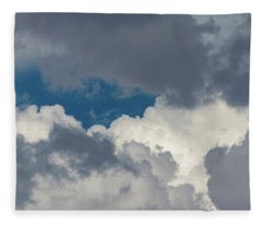 White And Gray Clouds Fleece Blanket