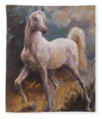 White Arabian Fleece Blanket