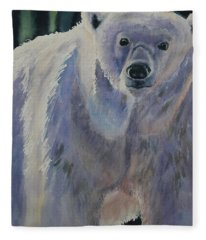 White Bear Fleece Blanket