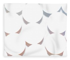 White Circles Fleece Blanket