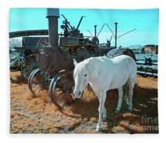 White Horse Iron Horse Fleece Blanket